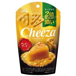 Gilco CHEEZA Rich Cheddar Cheese Snack 40g / グリコ生チーズのチーザチェダーチーズ