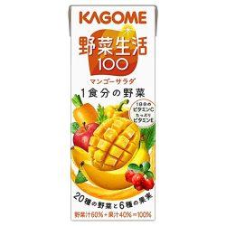 Kagome Yasaiseikatsu 100 Mango Salad 200ml / カゴメ野菜生活100マンゴーサラダ200ml