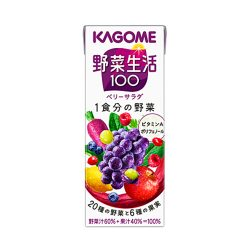 Kagome Yasaiseikatsu 100 Berry Salad Drink 200ml / カゴメ野菜生活100ベリーサラダ200g