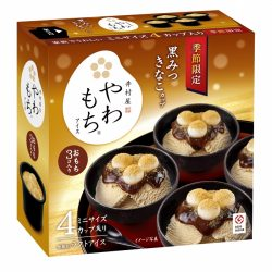 【SALE】Imuraya Yawamochi Kuromitsu Kinako Cup (Black Honey Roasted Soybean Flavor) 80mlx4 / やわもちアイス 黒蜜きなこ