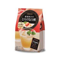 Nittoh White Peach Drink / 日東厳選果汁のとろける白桃95g