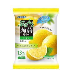 Orihiro Konnyaku Jelly Pouch Lemon 130g/ オリヒロぷるんと蒟蒻ゼリー 新パウチ レモン130g