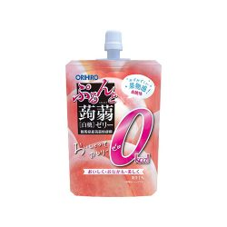 Orihiro Konnyaku Jelly 0kcal Standing White Peach 130g / オリヒロ ぷるんと蒟蒻ゼリー スタンディング 白桃 0kcal 130g