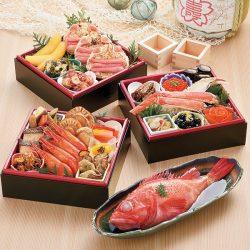 【Araya/あらや 】Premium Seafood Osechi Box 2022 from Hokkaido  / 海鮮おせち三段重 北の漁師膳(りょうしぜん) 2022 20品目 お節/ 送料無料!【配達日指定12月29日~31日】