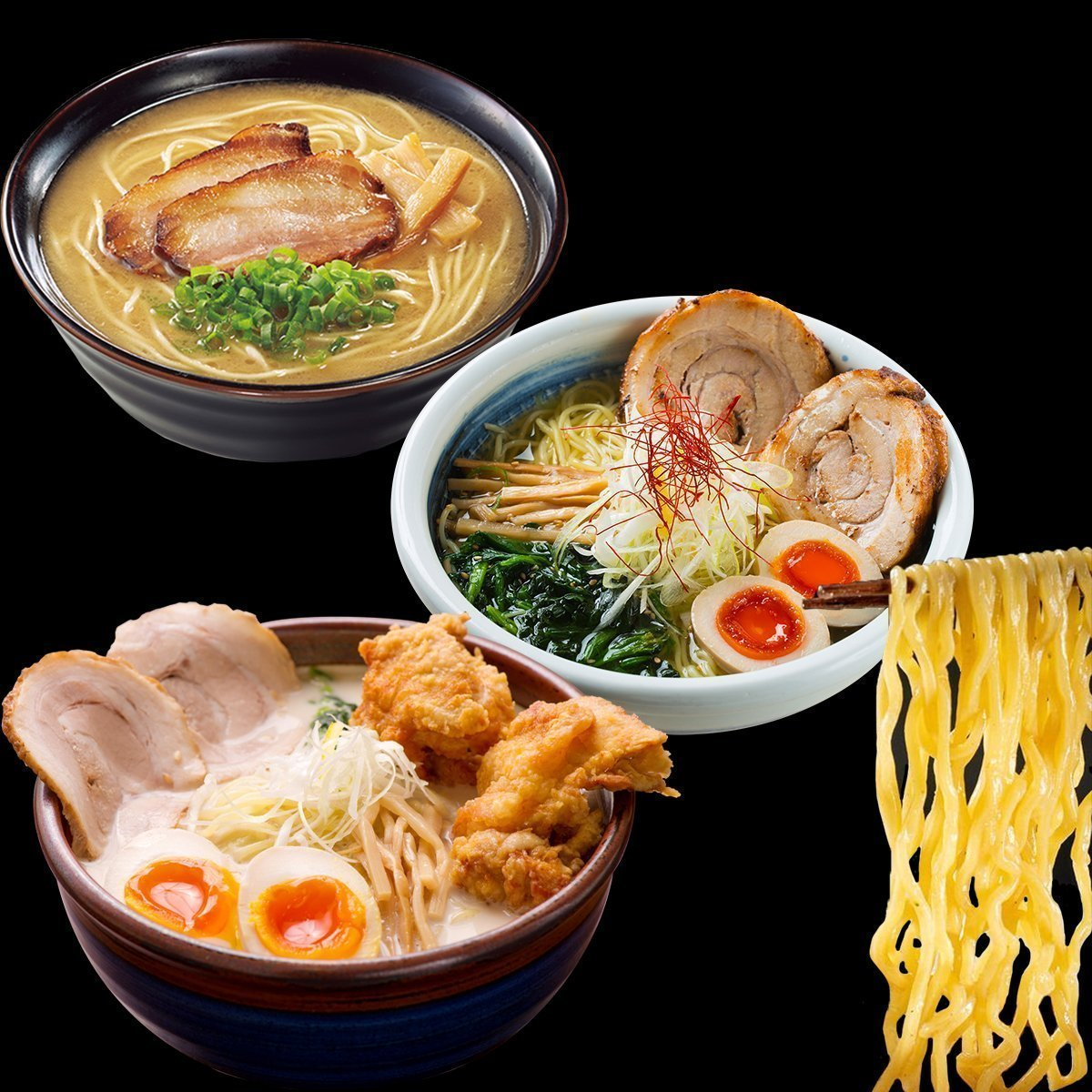Frozen Ramen from Hokkaido (5pcs) 200g / 北海道・西山製麺の熟成麺 冷凍麺 ラーメン