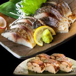Aomori Vinegar Marinated Mackerel (Shime Saba) for Sushi Making 1pc / しめ鯖 青森県産 こだわりの昆布仕立て・昆布付き
