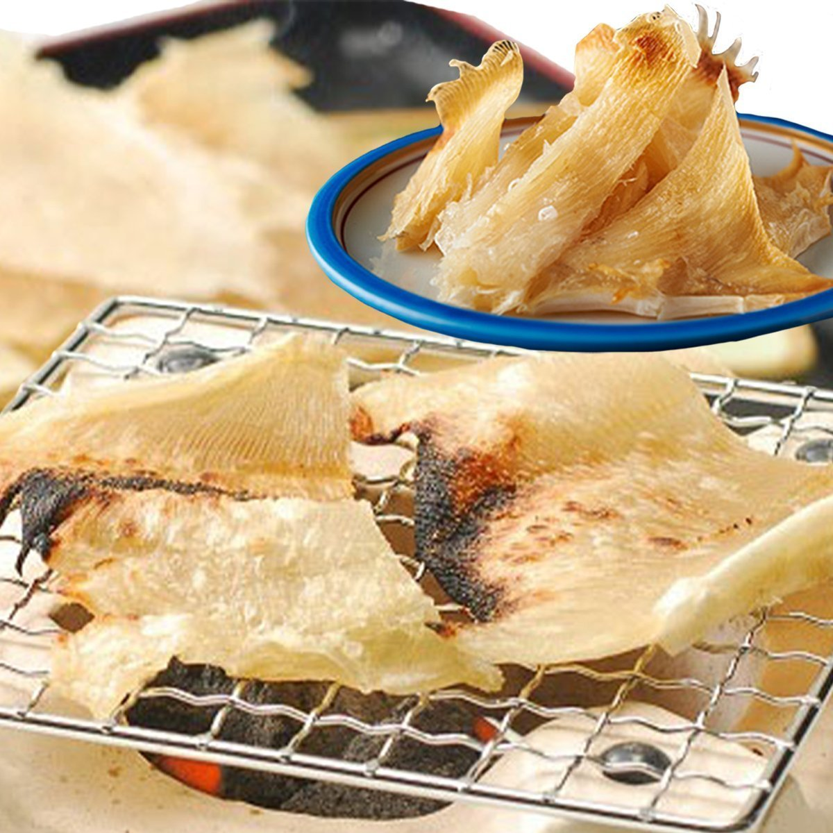 Dried Stingray Fin (Eihire) 250g / 長崎県産えいひれ
