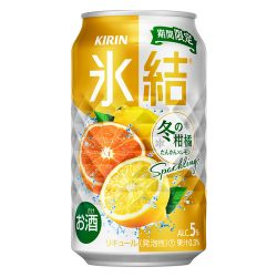 Kirin HYOKETSU Winter Citrus Sparkling Chuhai / 氷結 冬の柑橘スパークリング 缶 350g