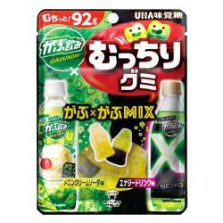 UHA Muchiri Gummy Melon Cream Soda & Energy Drink Assortment 92g / UHAむっちりグミ がぶ飲み2種アソート92g