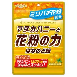 Senja Kuame Manuka Honey & Bee Pollen Throat Candy 80g / 扇雀飴マヌカハニーと花粉の力はなのど飴