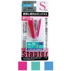 Seiwa Pro Stapler S & Stapler Needle / セイワプロ クリアハンディホッチキス 針付 S
