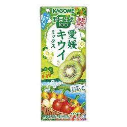 Kagome Yasaiseikatsu 100 Ehime Kiwi mix 195ml / 野菜生活100 愛媛キウイミックス
