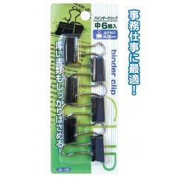 Seiwa Pro Binder Clip M 6 pieces / 195バインダークリップ(中・6P)