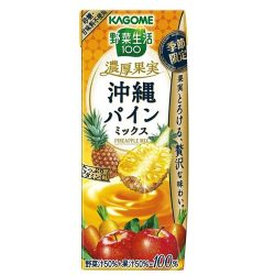 Kagome Yasaiseikatsu Noko Kajitsu Okinawa Pineapple Mix 195ml / カゴメ 野菜生活 濃厚果実沖縄パインミックス