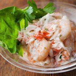 Ajirushi Umi no Shokudo Shrimp Mayo Salad 100g / AJIRUSHI 海の食堂 エビのマヨサラダ