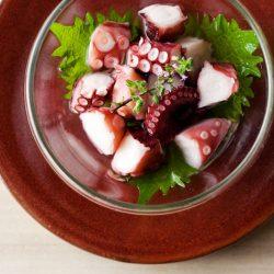 Ajirushi Umi no Shokudo Hitokuchi Umezu Octopus 70g / AJIRUSHI 海の食堂 ひとくち梅酢たこ
