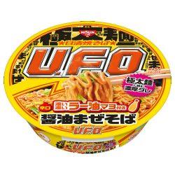 Nissin Yakisoba UFO Rich Chilli Oil Mayo Soy Sauce 112g / 日清焼そばU.F.O. 濃い濃いラー油マヨ付き醤油まぜそば112g