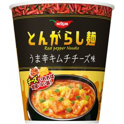 Nissin no Tongarashimen Kimchi Cheese 65g / 日清のとんがらし麺 うま辛キムチチーズ味65g