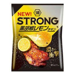 Koikeya Strong Potato Chips Black Pepper Lemon Chicken 56g / 湖池屋KOIKEYA STRONG ポテトチップス 黒胡椒レモンチキン56g