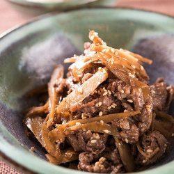 Braised Beef and Burdock with Ginger (Beef Gobo Shigureni) 500g / 牛肉と牛蒡のしぐれ煮